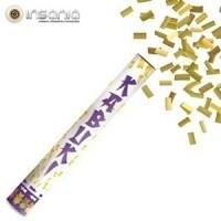 Tubo de confetes Dourado 40 cm