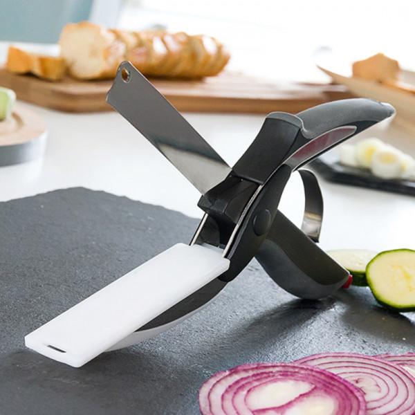 Cuchillo Tijera con Tabla de Cortar Integrada