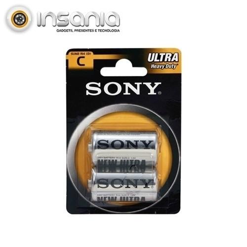 Pilhas Sony Zinco Carbono C (Pack 2)