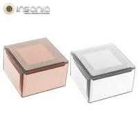 Caixa Porta-jóias de Vidro Espelhado