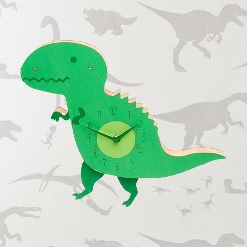 Relógio Dinossauro em Madeira