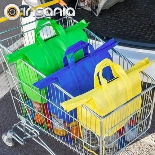Bolsas de Compras Organizadoras para Coche (Pack 4)