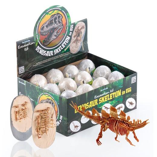 Jogo de Escavação Ovo com Esqueleto de Dinossauro