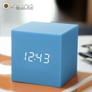 Relógio Despertador Gravity Cube Azul