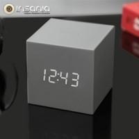 Relógio Despertador Gravity Cube Cinzento