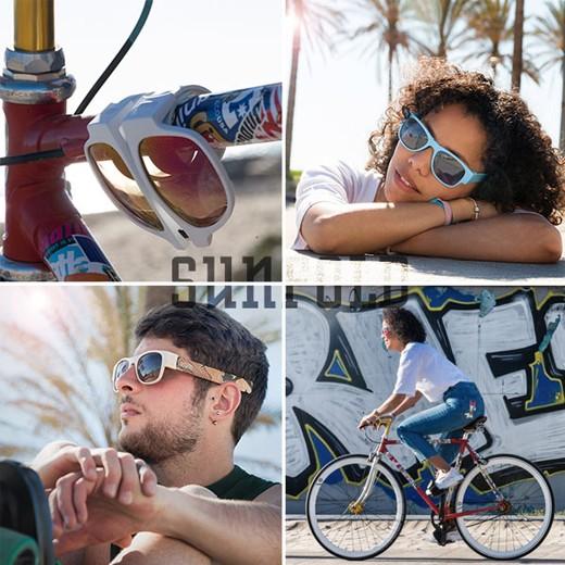 Óculos de Sol Dobráveis Pastel Azuis
