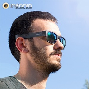 Óculos de Sol Dobráveis Eternal Sunshine Preto / Azul