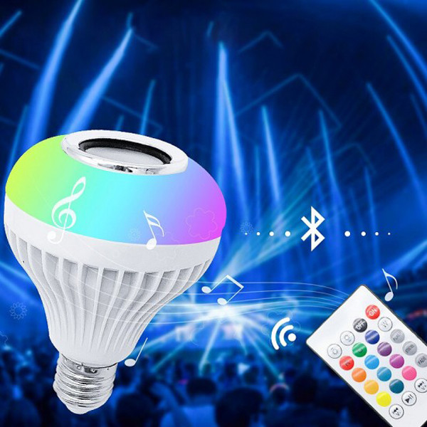Lâmpada LED Multicolor com Coluna Bluetooth