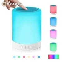 Coluna Sem Fios com Candeeiro de Toque Multicolor