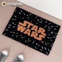 Tapete Logo Star Wars Preto