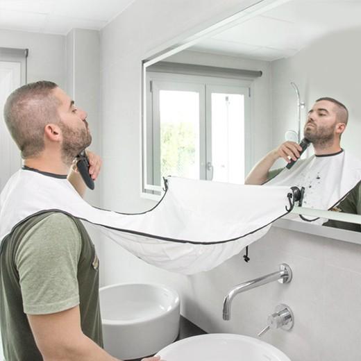 Delantal para Barba con Ventosas