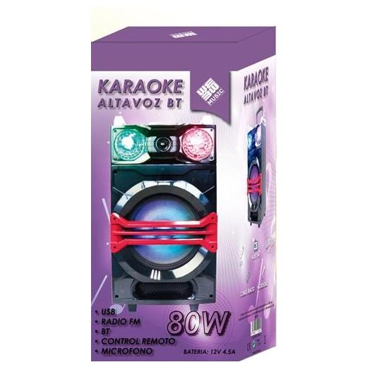 Coluna Karaoke Trolley 80W