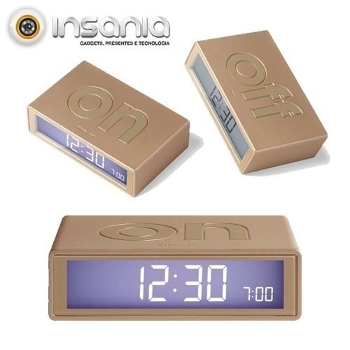 Reloj Despertador de Dos Caras Dorado