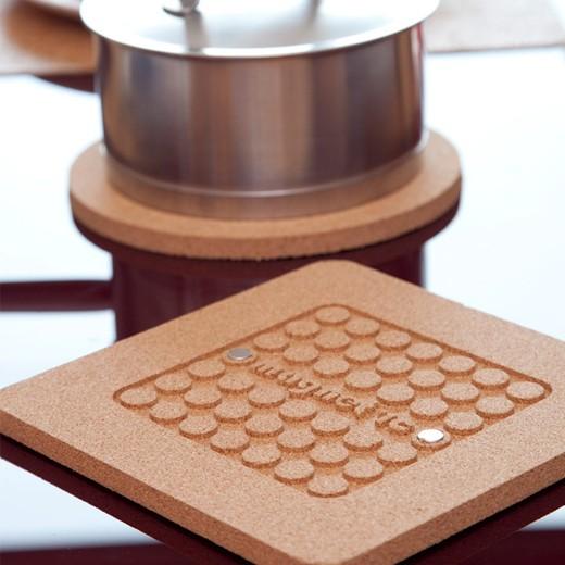 Base Magnética de Cortiça para Tachos Quadrada
