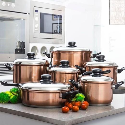 Conjunto de Panelas de Cozinha Cook D'Lux (12 Peças)