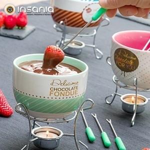 Conjunto de Fondue de Chocolate Vintage