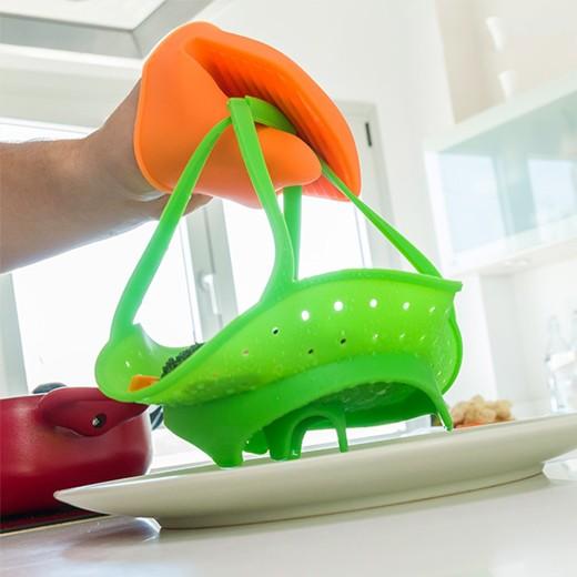 Cesto para Cozinhar a Vapor em Silicone