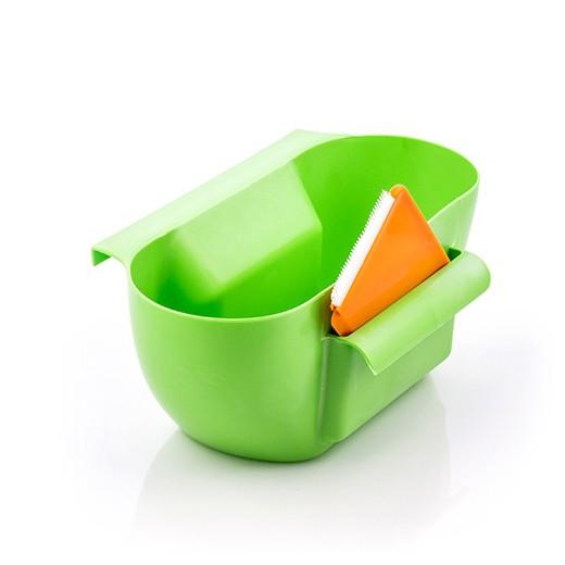 Récipient à déchets avec support