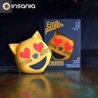 Powerbank Emoticon Gato Corações