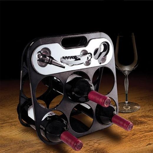 Garrafeira com Acessórios de Vinho