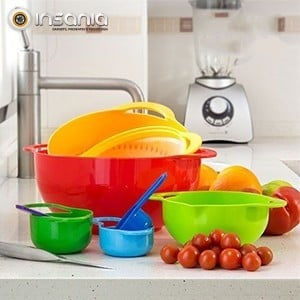 Utensílios de Cozinha Coloridos (8 peças)