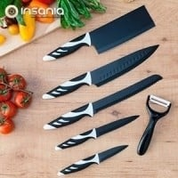 Facas Top Chef Pretas (6 peças)