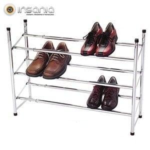 Organizador de Sapatos Extensível de 3 Patamares
