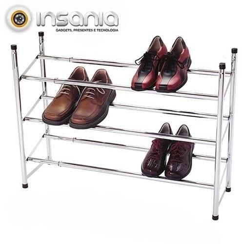 Organizador de Zapatos Extensible de 3 Alturas