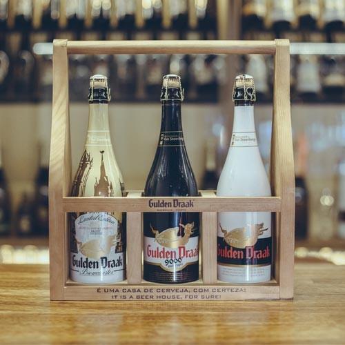Cerveja Gulden Draak (3 garrafas de 75 cl) com Suporte