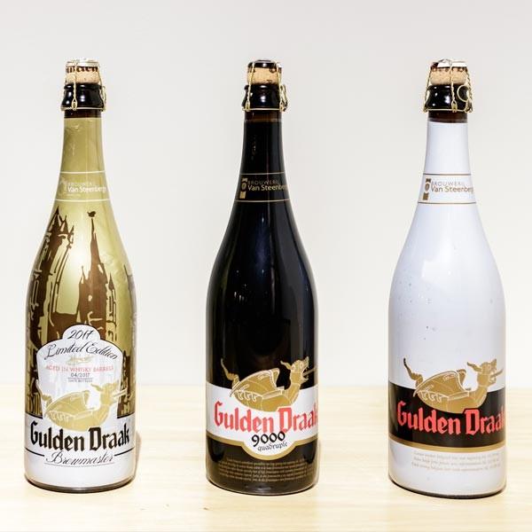Cerveza Gulden Draak (3 botellas de 75 cl) con Soporte