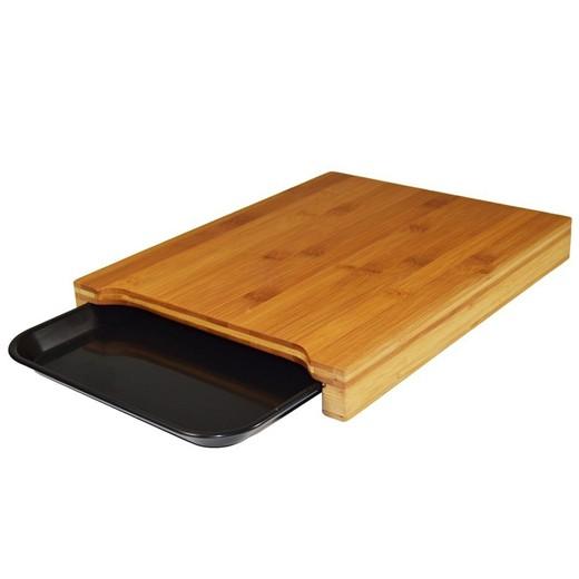 Tábua de Cozinha Bambu com Bandeja