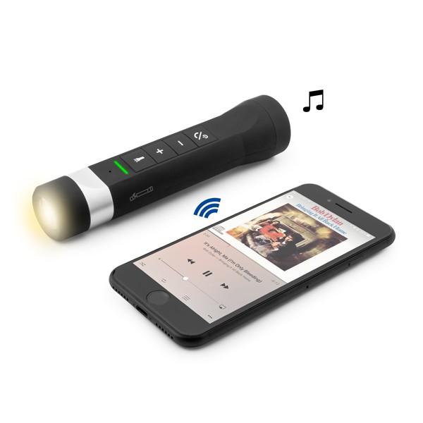 Coluna Bluetooth para Bicicleta com Mãos Livres e Lanterna