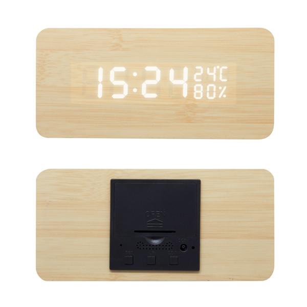 Reloj Despertador Prisma Triangular en Madera