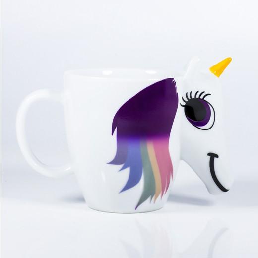 Caneca de Unicórnio Muda de Cor Arco-íris