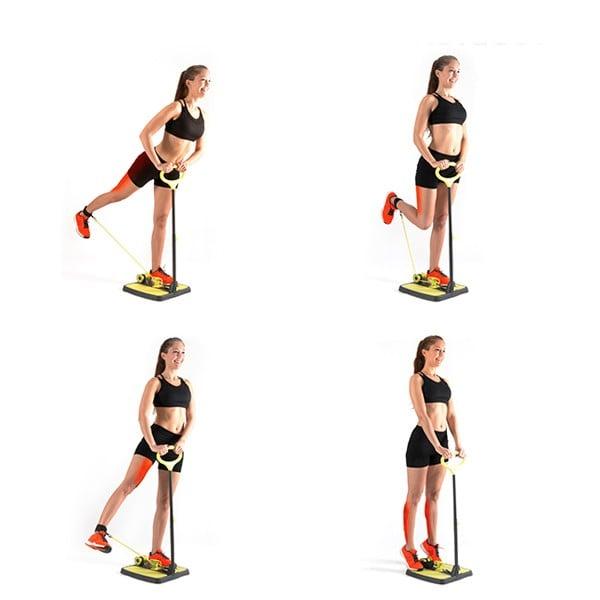 Plataforma de Fitness para Glúteos, Pernas e Braços