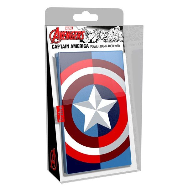 Tribe Deck Power Bank Marvel Captain America 4000 mAh