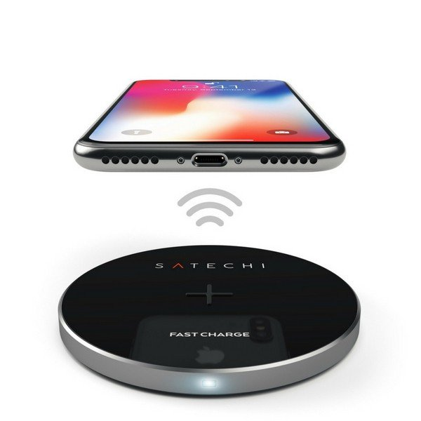 Carregador Wireless QI Satechi Cinzento