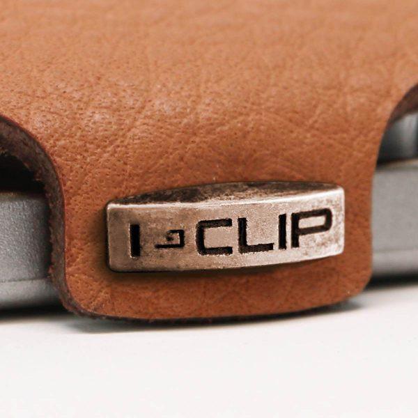 Carteira Porta-cartões I-Clip Clássica Ögon Camel