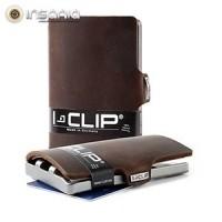 Carteira Porta-cartões I-Clip Soft Touch Ögon Castanha Escura