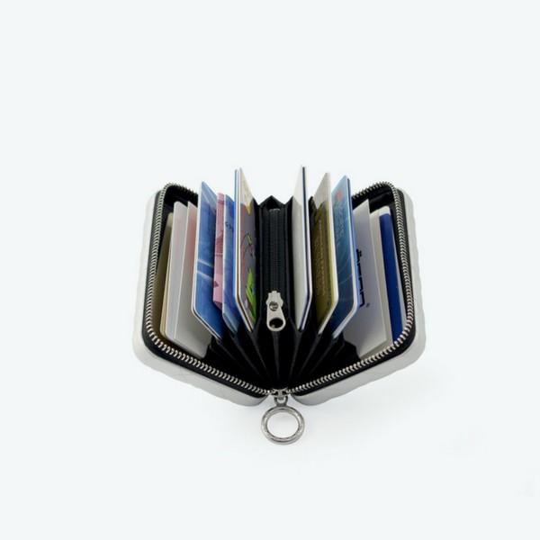 Carteira Porta-cartões Quilted Zipper Ögon Preta