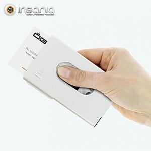 Porta-cartões OneTouch Ögon Prateado