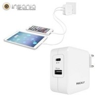 Carregador AC com 2 Portas USB Macally
