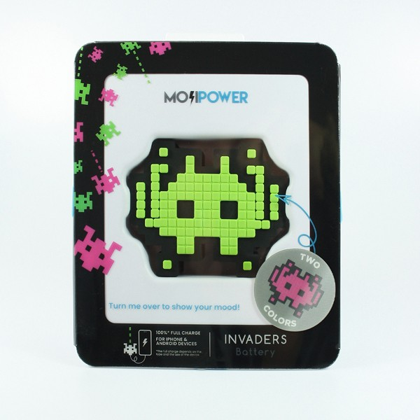 Powerbank Dupla Face Face Invaders Mojipower 2600mAh