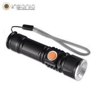 Mini Lanterna Tática LED USB com Zoom