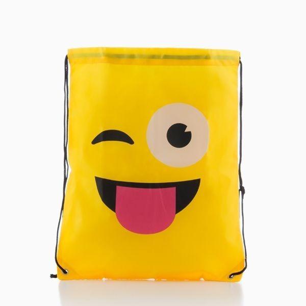 Bolsa Mochila com Cordas Emoticons
