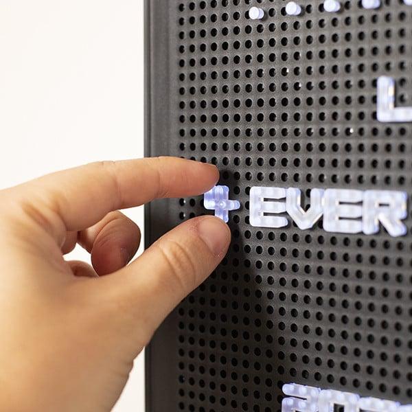 Quadro Perfurado Letras LED