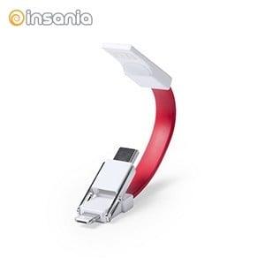 Porta-chaves com Cabo Micro USB Tipo C e Lightning