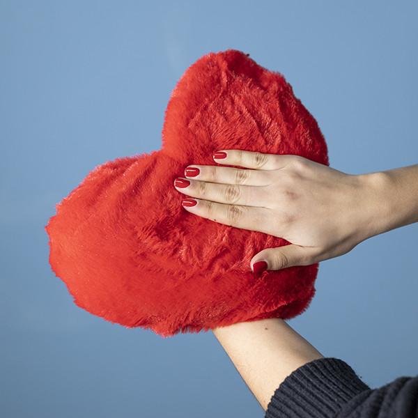 Almofada Coração de Aquecimento Micro-ondas