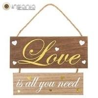 Placa de Madeira Love is all you need