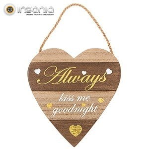 Placa de Madeira Letras Douradas Always